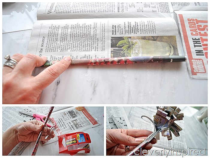 make a newspaper flower @cleverlyinspired (9)