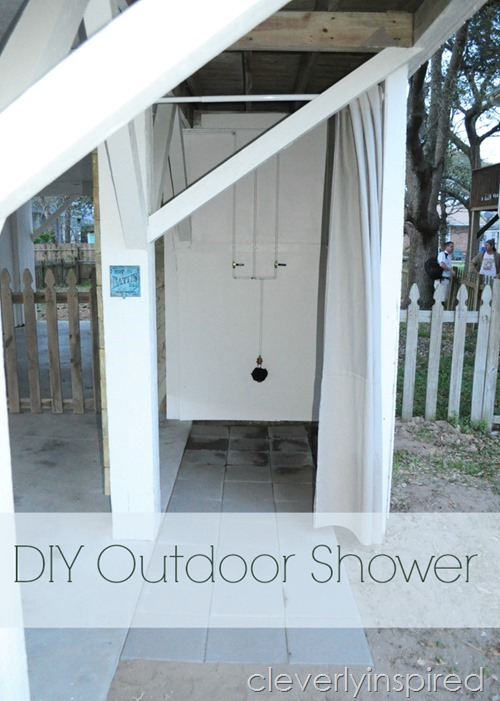 DIY Outdoor shower @cleverlyinspired (1)