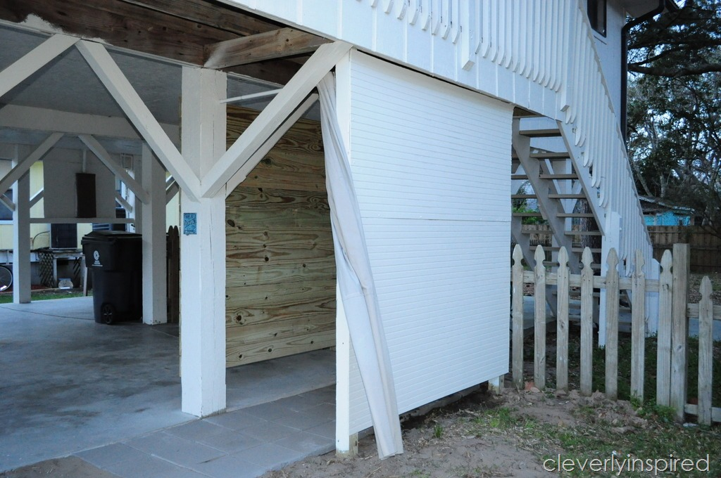 DIY Outdoor Shower - Cleverly Inspired