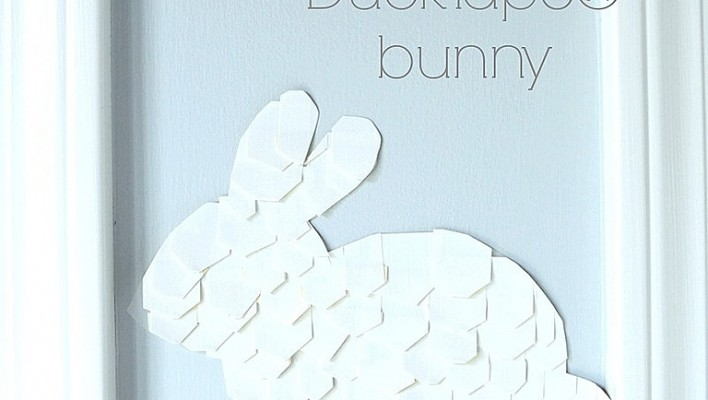 Bunny Wall Decal DIY (easy Easter Decor with DuckTape®)