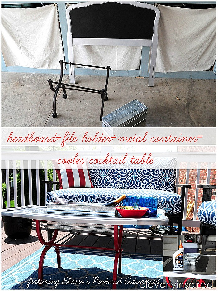 outdoor cooler cocktail table @cleverlyinspired