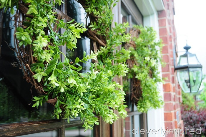DIY boxwood wreath @cleverlyinspired (3)