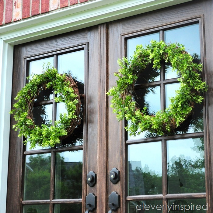DIY boxwood wreath @cleverlyinspired (5)