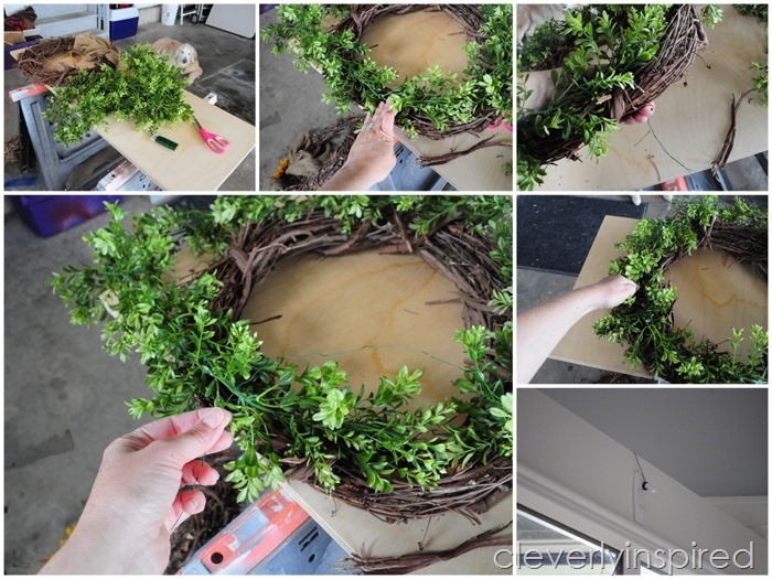 DIY boxwood wreath @cleverlyinspired (6)