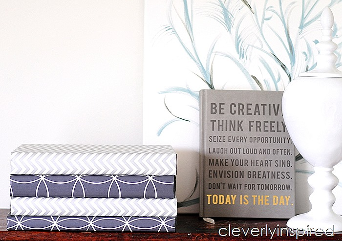 How To Make A Book Cover With Gift Wrap : Gift wrap book covers cleverly inspired
