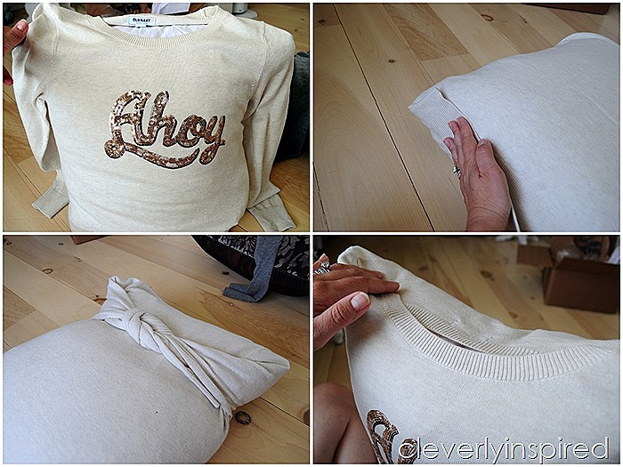 no sew pillow cover from sweater @cleverlyinspired (7)