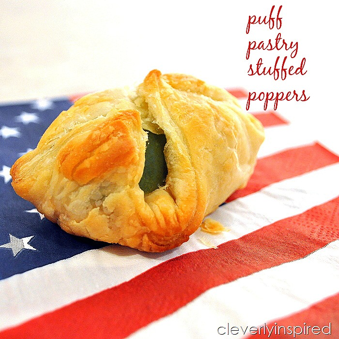 puff pastry stuffed popper recipe @cleverlyinspired (4)