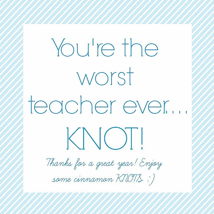 teacher KNOT printable