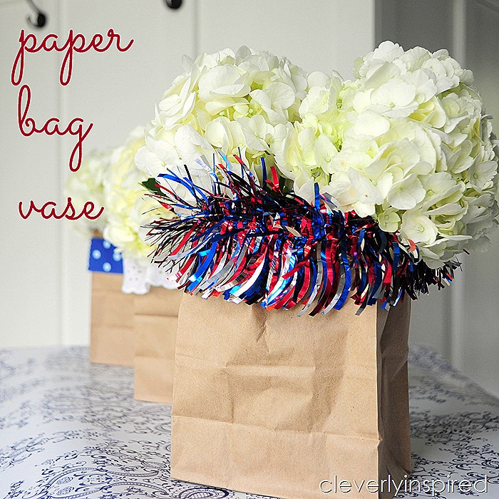paper bag vase @cleverlyinspired #ultimateredwhiteandblue (1)