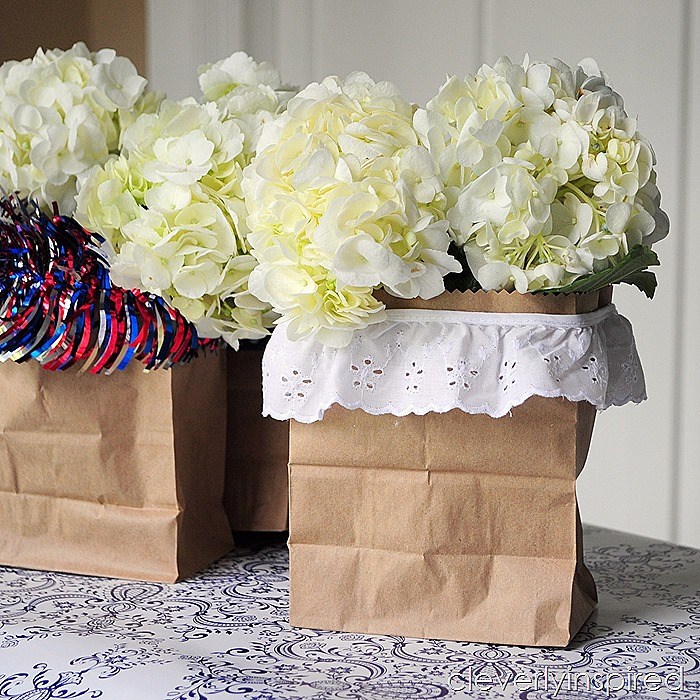paper bag vase @cleverlyinspired #ultimateredwhiteandblue (5)