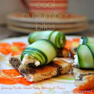Cool Cucumber Bite Appetizer Recipe featuring Martha Stewart Collection