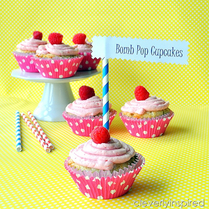 homemade bomb pop cupcake recipe @cleverlyinspired (3)