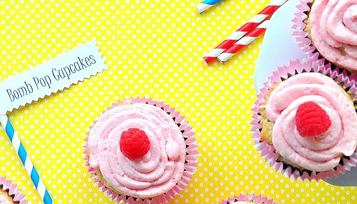 Bomb Pop Cupcake Recipe (summertime recipes)