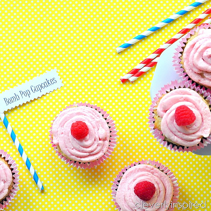 homemade bomb pop cupcake recipe @cleverlyinspired (4)