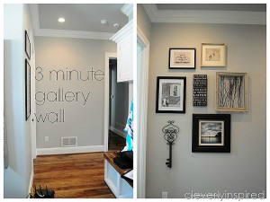 3 minute Gallery Wall