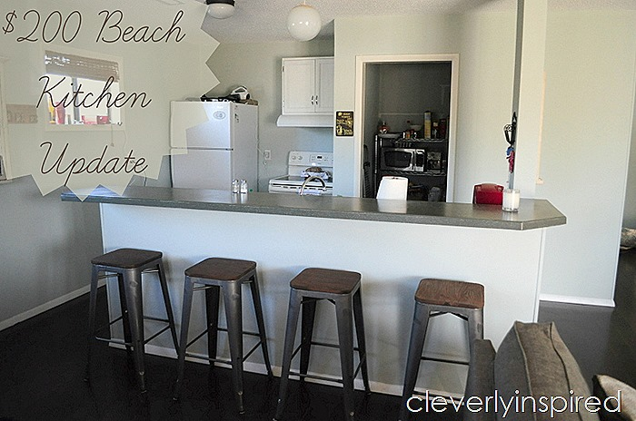 Beach kitchen update on a budget @cleverlyinspired (1)