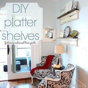 Reclaimed Wood Platter Rack (DIY Shelves)