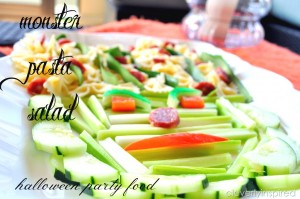 Monster Pasta Salad (Halloween Party Food)