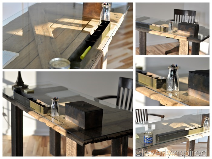 barn door coffee table @cleverlyinspired (1)