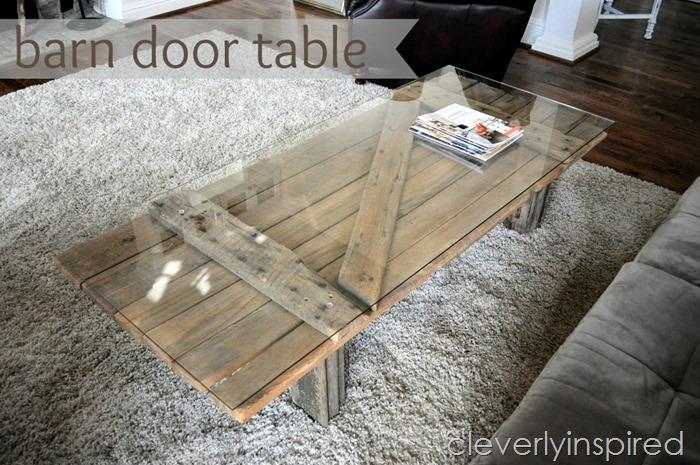 barn door coffee table @cleverlyinspired (2)