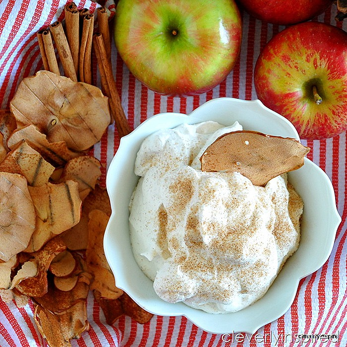 homemade apple chips with cinnamon sugar whipped creme @cleverlyinspired (1)