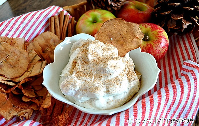 homemade apple chips with cinnamon sugar whipped creme @cleverlyinspired (6)