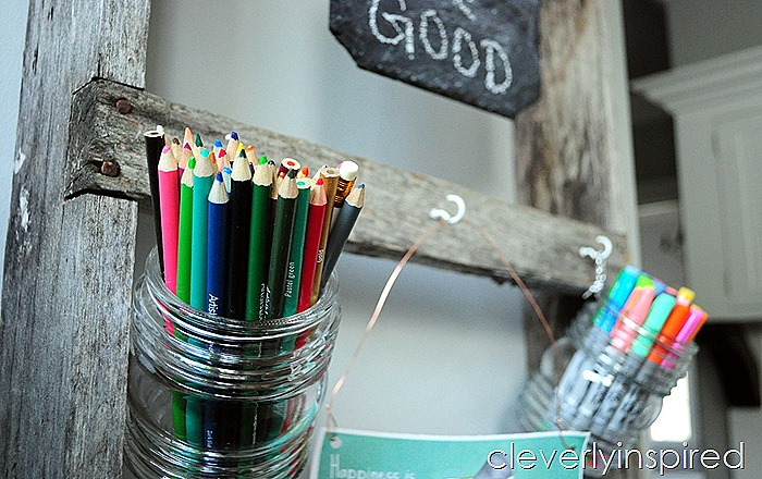 repurposed old ladder office organizer @cleverlyinspired (5)