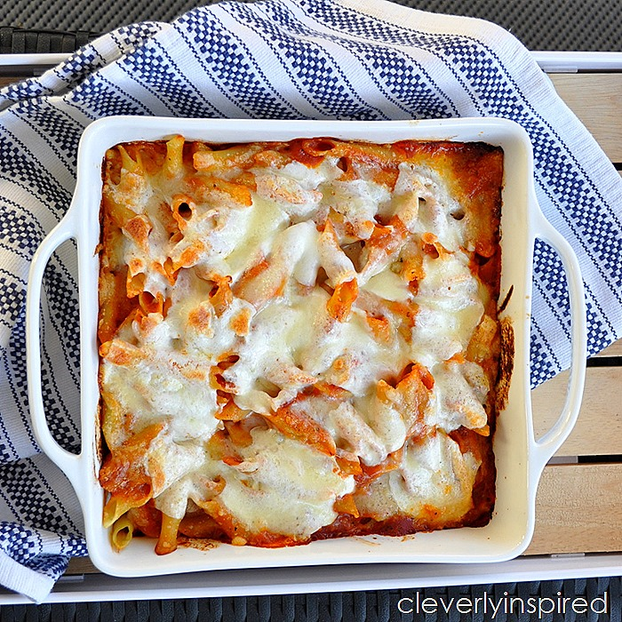 4 ingredient baked ziti @cleverlyinspired (7)