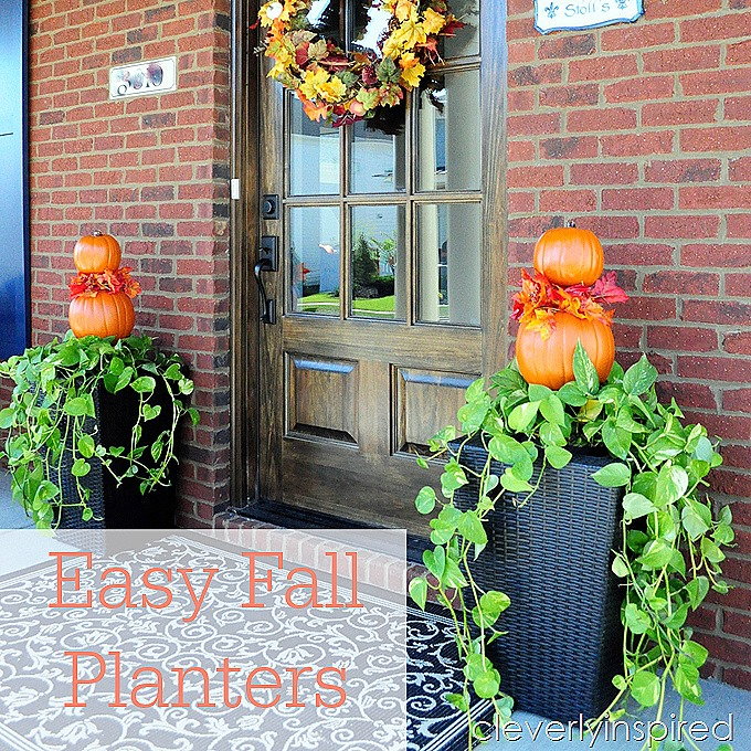 Easy Fall Planter Outdoor Fall D Cor Cleverly Inspired