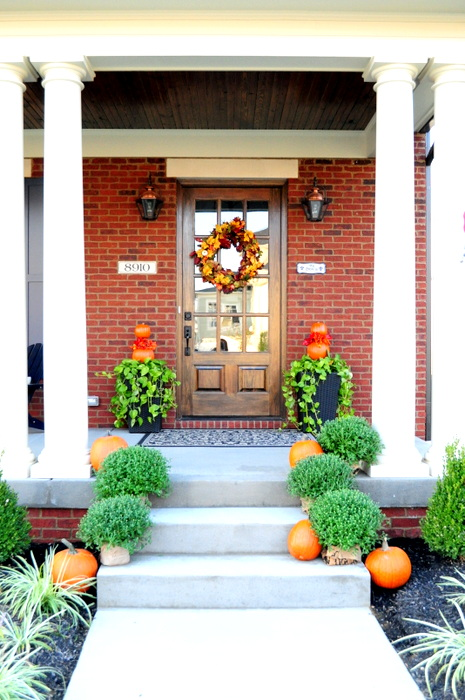 fall porch cleverlyinspired