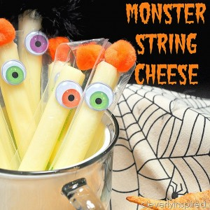 Healthy Halloween Snack (Monster Cheese)