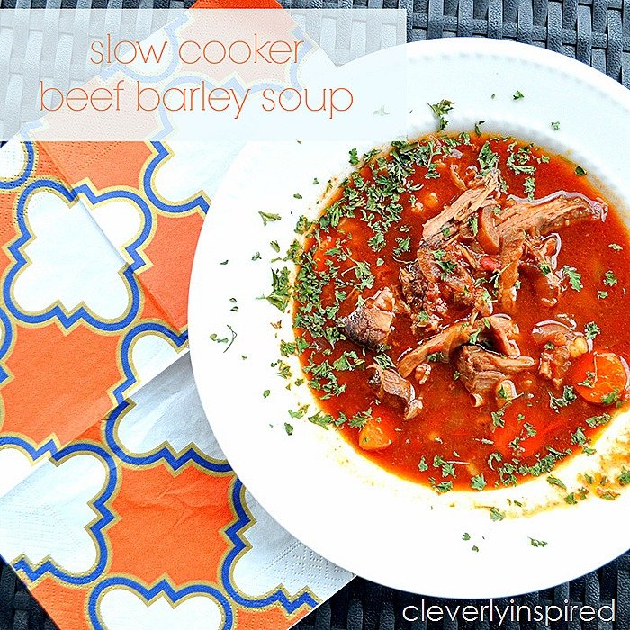slow cooker beef barley soup @cleverlyinspired (3)cv