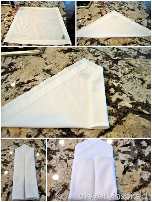 DIY leather napkin tie & Thanksgiving printable @cleverlyinspired (7)