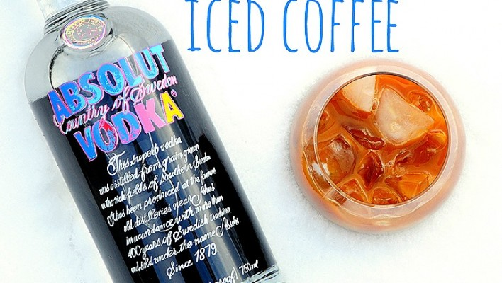 Grown Up Iced Coffee with Absolut