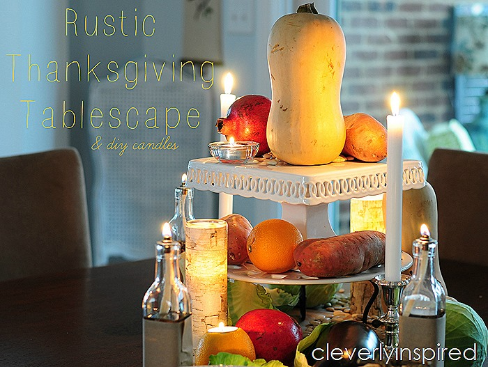 rustic thanksgiving tablescape @cleverlyinspired (5)