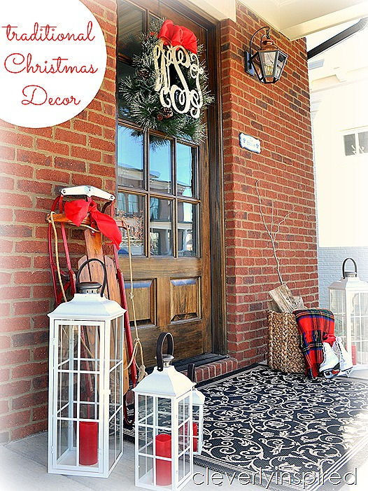 traditional outdoor Christmas decor @cleverlyinspired (10)