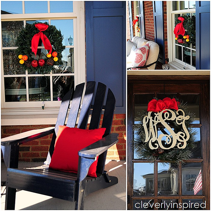 traditional outdoor Christmas decor @cleverlyinspired (23)