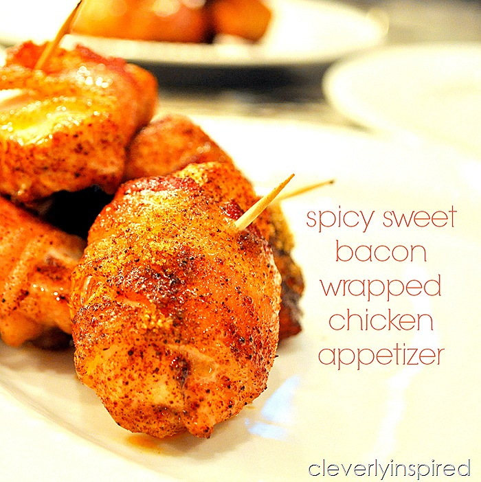 bacon wrapped chicken appetizer@cleverlyinspired (3)