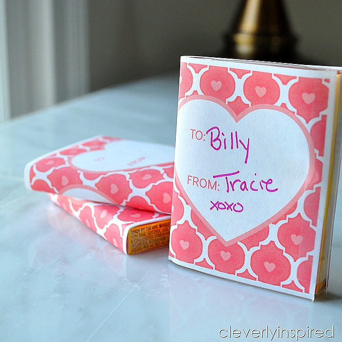 easy handmade valentine free printable @cleverlyinspired (1)