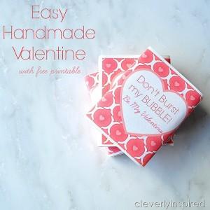 Easy Handmade Valentine with free printable