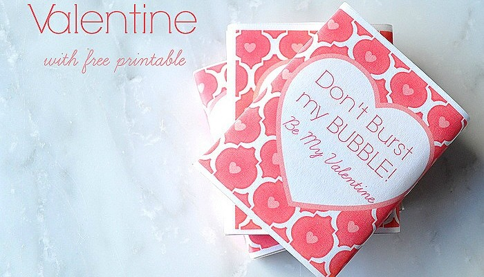 Easy Handmade Valentine with free printable