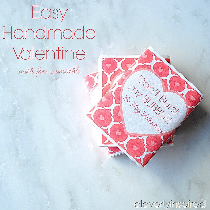 easy handmade valentine free printable @cleverlyinspired (3)