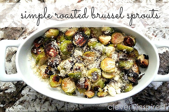 simple raosted brussel sprouts @cleverlyinspired (1)