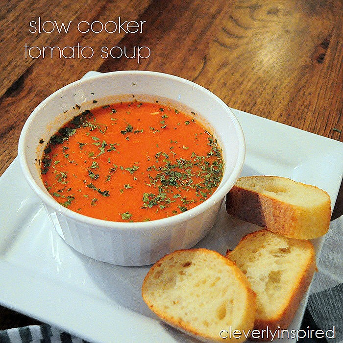 slow cooker tomato soup @cleverlyinspired (8)