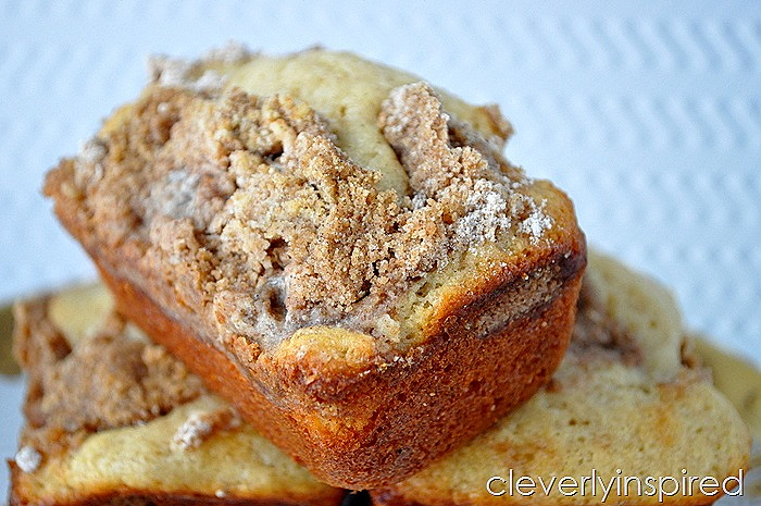 Mini Coffee Cake Recipe (Starbucks knock off) - Cleverly Inspired