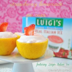 Strawberry Lemonade Pie Cups