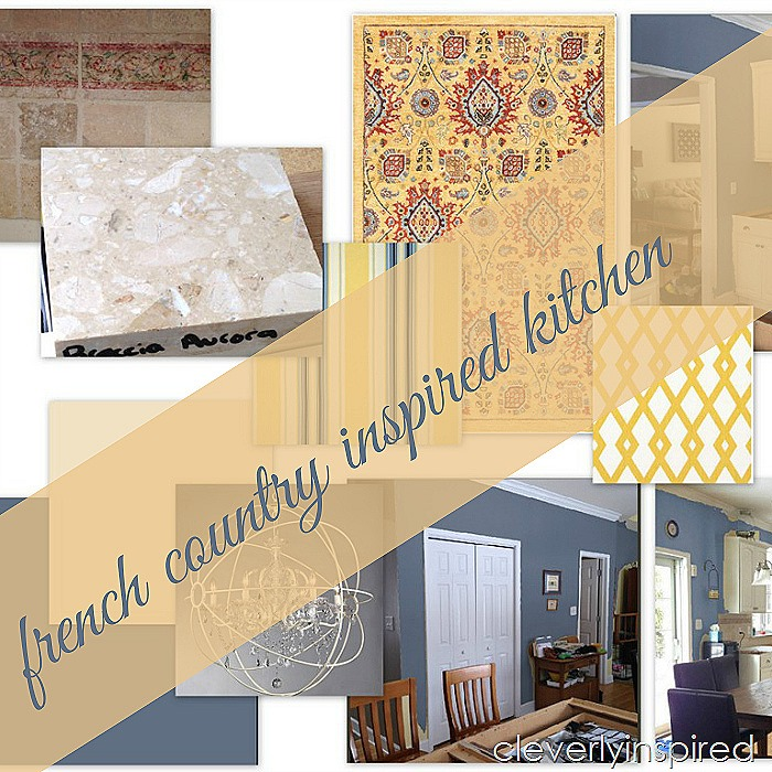 french country inspired kitchen