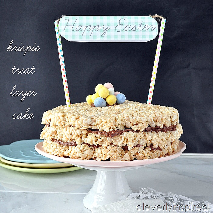 krispie treat layer cake @cleverlyinspired (4)