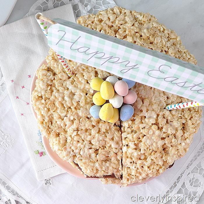 krispie treat layer cake @cleverlyinspired (5)