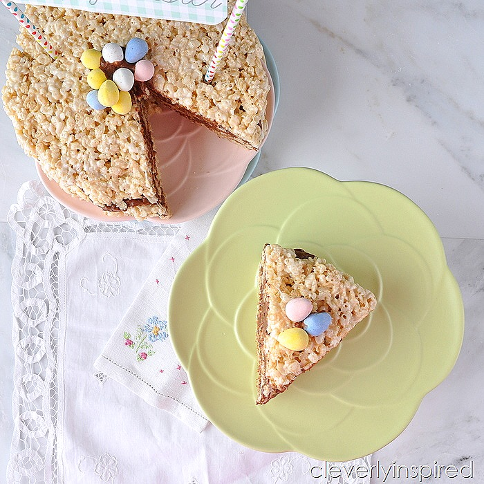 krispie treat layer cake @cleverlyinspired (8)